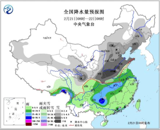 据中国天气网预测全国有30个省份将出现雨雪