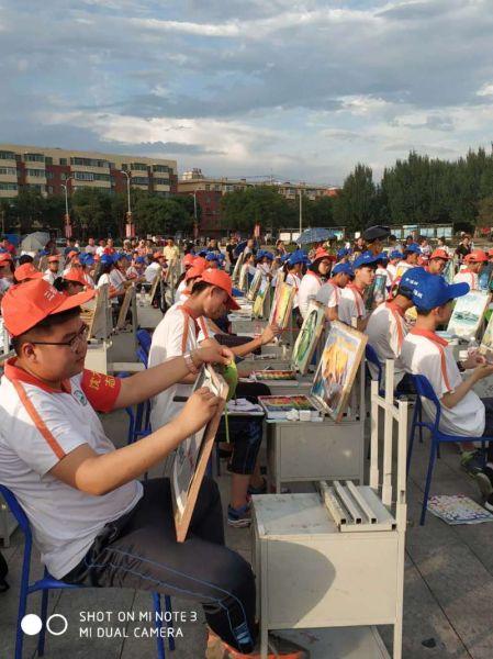 沈阳沈北虎石台街道举办 三城联创 绘画大赛
