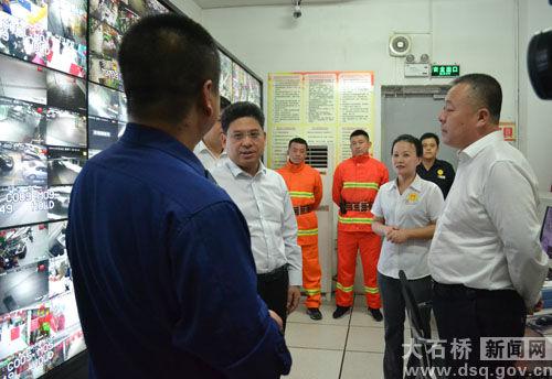大石桥市领导检查国庆节期间安全生产工作