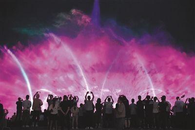 网红音乐喷泉全新炫彩升级三场