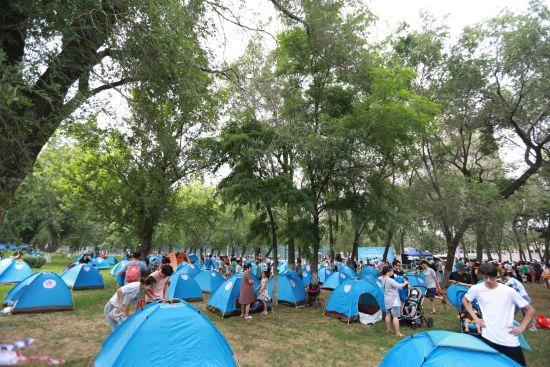 帐篷音乐节驻扎沈阳浑河岸 浑河之夏再添亲子情