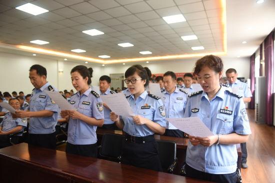 认真开展学唱 中国人民警察警歌 活动
