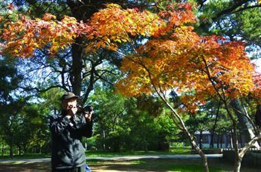 免费为游客拍照10年送七千照片