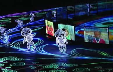 """去年12月15日,北京冬奥会会徽""""冬梦""""正式发布;进入2018年,吉祥物图片"""