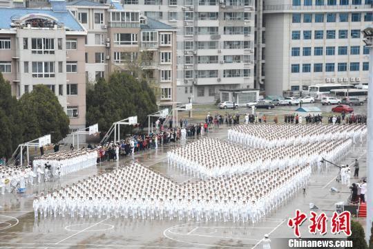 海军阅兵方阵 庆祝海军成立69周年阅兵活动