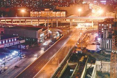 沈海立交南引道拆除重建工程昨晚启动