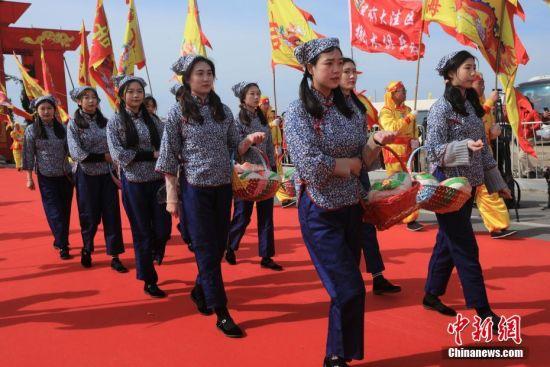 盘锦开海节再现中国北方悠久渔雁文明