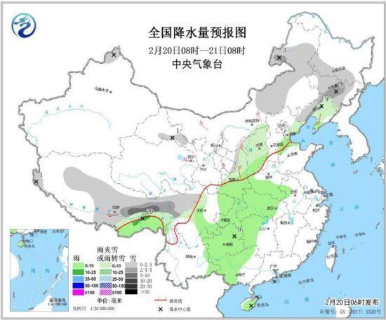�|北地�^�⒂休^��降雪 青藏(cang)高原南(nan)部有降雪