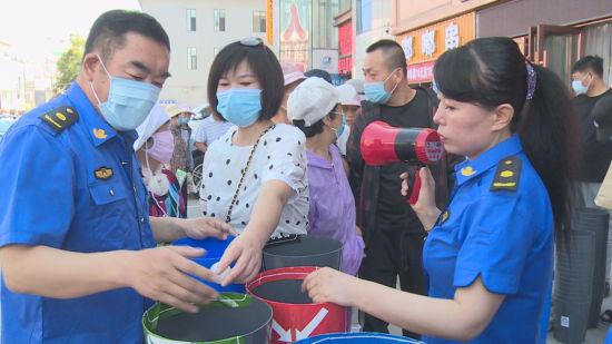 沈阳辽中区创新形式 推进市民垃圾分类知晓率